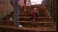 Toddler Climbing Steps video