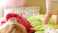 Toddler decorates her room video