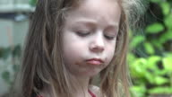 Toddler Girl Eating Chocolate video