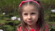 Toddler Girl With Lollipop video