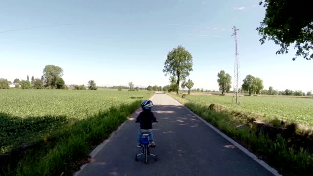Toddler Learning to ride his new bike video