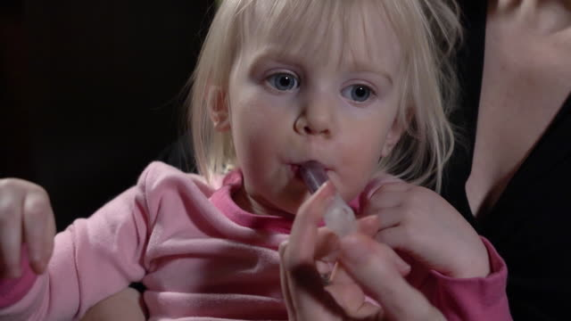 Toddler Takes Medicine - Front video