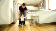 Toddler Taking First Steps video