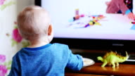 Toddler Watching TV video
