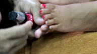 Toe Nail Painted During Pedicure video