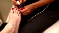 Toenail Polish Application Tilt Down video