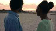 Together with a beautiful sunset video