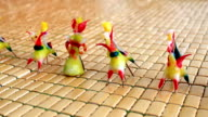 Tohe, the traditional toys in Vietnam made by colored rice powder video