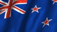 Tokelau Flag - waving, looping video