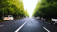 Tokyo Aoyama of the road in the morning video