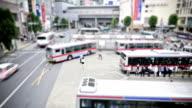 Tokyo bus terminal time lapse video