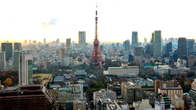 Tokyo city at twilight video