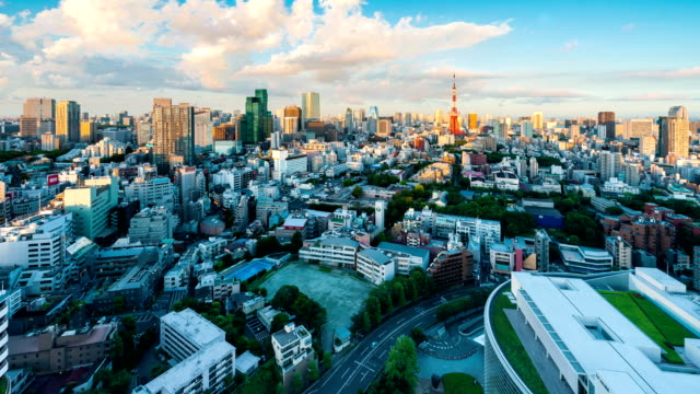 Tokyo city from sunset until night video