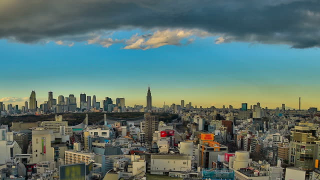 Tokyo Cityscape Time Lapse Pan HDR video