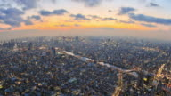 Tokyo Cityscape Time Lapse Zoom video