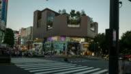 Tokyo crossing in Harajuku district, Japan - Stock Video video