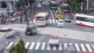 Tokyo, Japan. Daytime Timelapse of people walking the Shibuya crossing during the night video