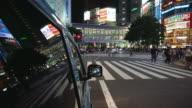 Tokyo Japan Night Traffic video