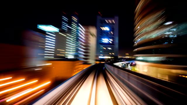 Tokyo monorail timelapse video