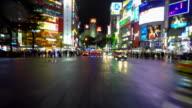 Tokyo night drive in Shibuya  -blur- -4K- video
