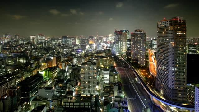 Tokyo night Time Lapse video