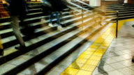 Tokyo Subway Rush Hour Time-lapse. video