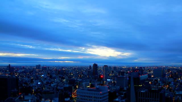 Tokyo sunrise time lapse video