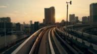 POV Tokyo through a window of lightrail video