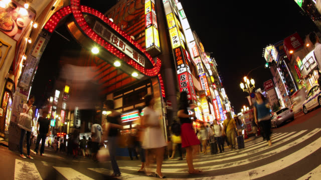 4K UHD Tokyo Time Lapse - Kabukicho Red Light District video