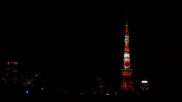 Tokyo Tower by night, Japan video