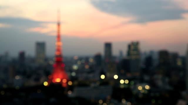 Tokyo Tower Defocussed video