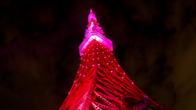 Tokyo Tower light up time laps video