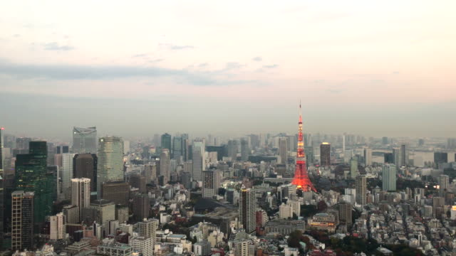 Tokyo Tower with City Skyline video
