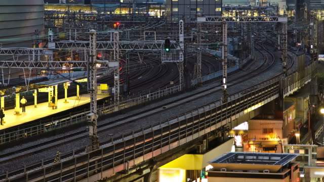 Tokyo Train Station Ginza Time Lapse video
