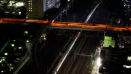 Tokyo trains and traffic at night video
