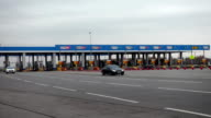 Toll road station time lapse video