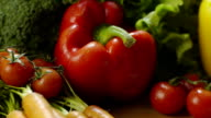 Tomatoes, carrots, salad, peppers and other vegetables video