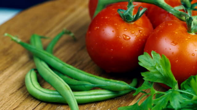Tomatoes with fresh herbs video
