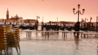 4K Toned overflow on St. Marc's square in Venice, Italy video