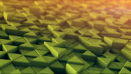 Toned triangles mosaic extruding 3D render loopable animation video