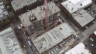 Top down view of high rise under development video