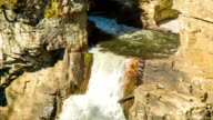 Top of Linville Falls Waterfall with Water Flowing from Pool video