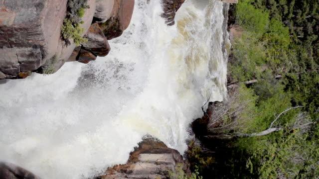 HD top of waterfall vertical video