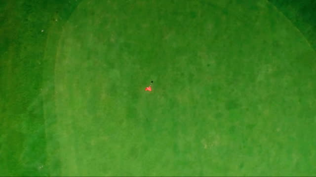 top view of a golf course flagstick video