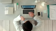 Top view of Medical worker with laptop. Doctors using keyboard at work video