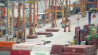 Top View Of The Cargo Port video