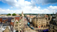 Top view of the city of Oxford, England, UK time lapse video