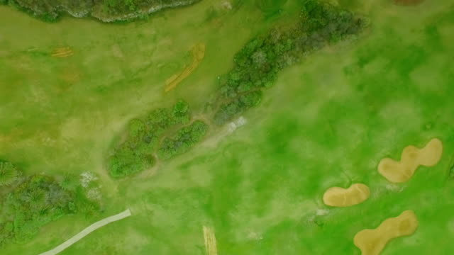 Top view of the golf course video