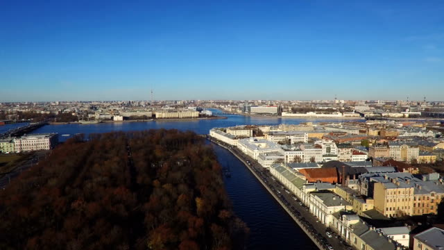 Top View On The Morning City St.-Petersburg video