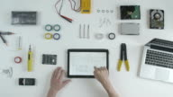 Top view software developer engineer video